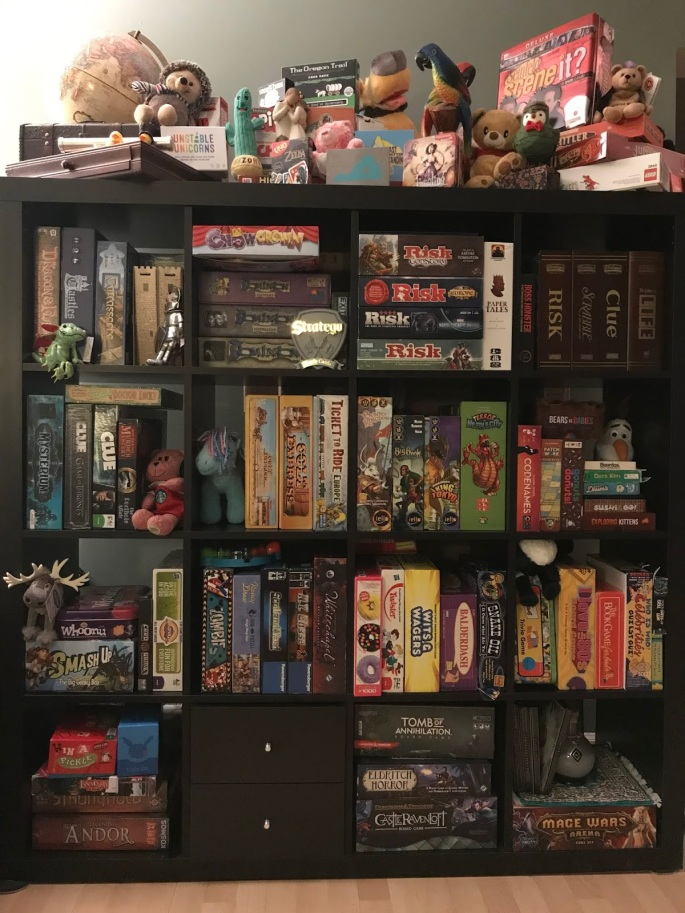 Kylie Kiser board game collection